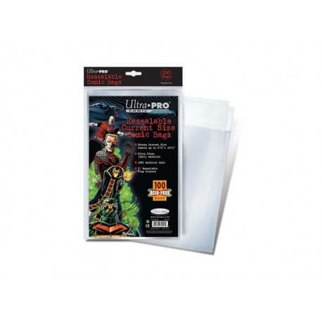 Ultra Pro - Comics Bags Current refermable - Lot de 100