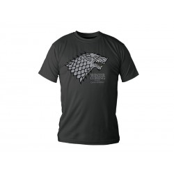 T-Shirt Game of Thrones Stark Noir Homme Taille S