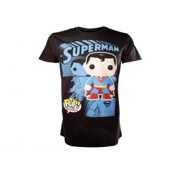 T-Shirt Superman - Graphic Art Noir Taille XL