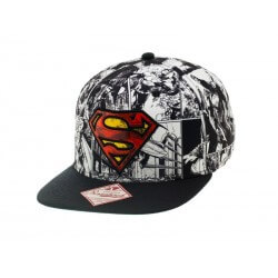 Casquette Superman - All Over Print With Logo In Front