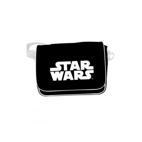 Sac Besace Star Wars - Logo Star Wars Blanc