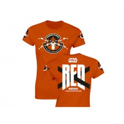 T-Shirt - Star Wars Episode 7- Femme Red Squad Orange Taille M