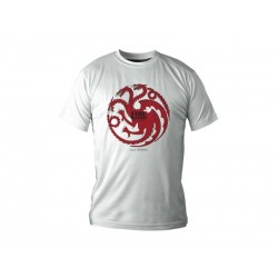 T-Shirt Game of Thrones - Targaryen Blanc Homme Taille S