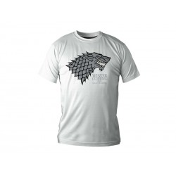 T-Shirt Game of Thrones - Stark Blanc Homme Taille M