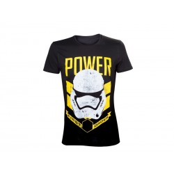 T-Shirt - Star Wars Episode 7 - Homme Storm Trooper Power Noir Taille S