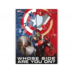 Poster Marvel Verre Trempé - Civil War - Whose Side Are You On 30x40cm