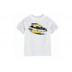 T- Shirt Batman - Batman Torn Logo Enfant Blanc Taille 6 ans