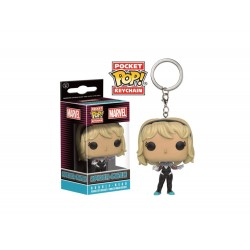 Porte Clé Marvel - Spider-Gwen Unmasked Exclu Pocket Pop 4cm