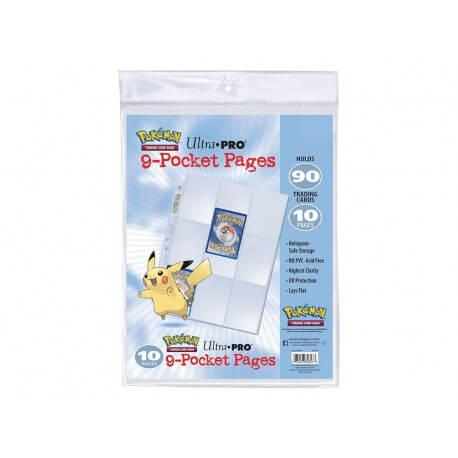 Ultra Pro - 10 Pages de classeur Pokémon - 9 cartes