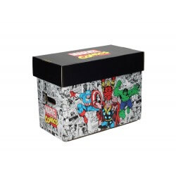 Boite Carton Comic box Marvel collector - Personnages 35 x 19 x30cm