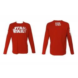 T-Shirt Star Wars Les Derniers Jedi - Restore The Republic Manche Longue Rouge Homme Taille XXL
