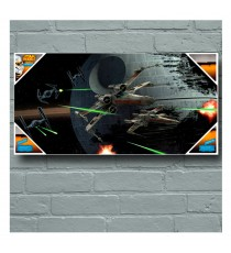 Poster en Verre Star Wars - Tie Fighter Versus X-Wing 60x30cm