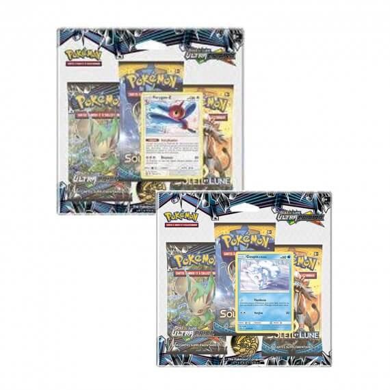 Pokemon - Pack 3 Booster Lune et Soleil 5 + Carte Promo