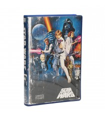 T-Shirt Star Wars -Logo Classic Bleu VHS Taille XL
