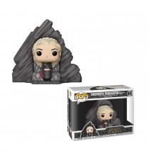 Figurine Game Of Thrones - Daenerys On Dragonstone Throne Pop 10cm