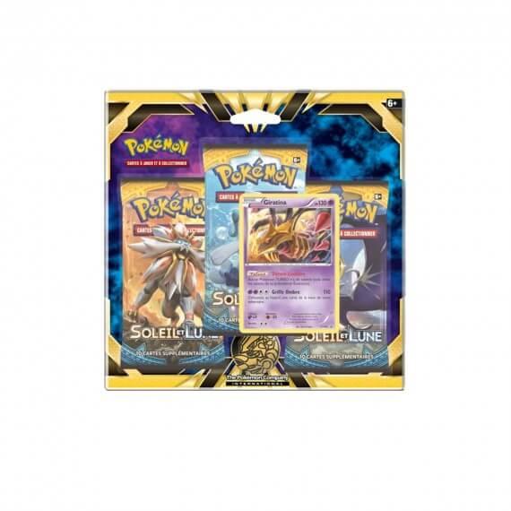 Pokemon - Pack 3 Booster Lune et Soleil + Carte Promo Giratina