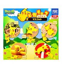 Figurine Pokemon - Set De 5 Pikachu Mascot 4cm