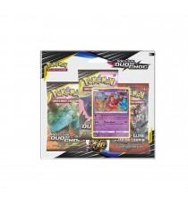Pokemon - Pack 3 Booster Soleil lune Duo de Choc + Carte Promo Aléatoire