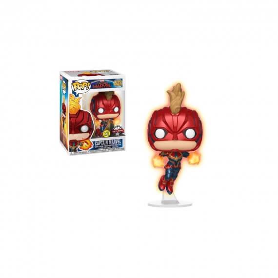 Figurine Marvel Captain Marvel Movie - Captain Marvel Flying Gitd Exclu Pop 10cm