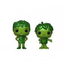 Figurine Ad Icons - 2-Pack Green Giant & Sprout Metallic Exclu Pop 10cm