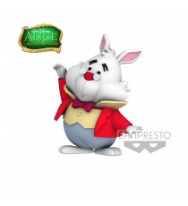 Figurine Disney Alice In Wonderland - White Rabbit Fluffy Puffy 6cm