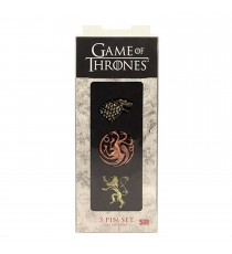 Set de 3 Pins Game Of Thrones - Stark Targaryen Lannister
