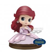 Figurine Disney - Ariel Assise Robe Rose Qposket 4cm