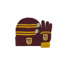 Set Enfant Harry Potter Gants Tactiles & Bonnet - Gryffondor