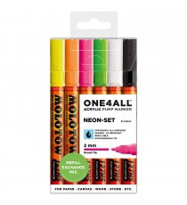 Set 6 Marqueurs Acrylic Marker One4All Neon 2mm