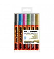 Set 6 Marqueurs Acrylic Marker Metallic 4mm
