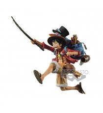 Figurine One Piece - Monkey D Luffy Three Brothers 11cm