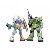 Maquette Gundam - Set RX-78-2 & MS-06F Zaku II Gunpla HG 1/144 13cm