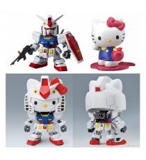Maquette Gundam - Hello Kitty/RX-78-2 Gundam SD EX STD 8cm