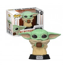 Figurine Star Wars Mandalorian - Baby Yoda The Child With Cup Pop 10cm