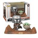 Figurine Star Wars Mandalorian - Mandalorian & Child Pop Movie Moment 10cm