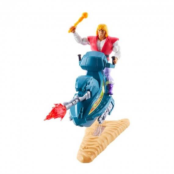 Figurine Les Maitres de l'Univers - Set Prince Adam + Sky Sled Origins 18cm