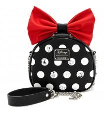 Mini Sac Bandouliere Disney - Minnie Polka Noeud Rouge