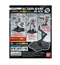Socle Gundam Gunpla - Action Base 5 Black RG/HG 1/144