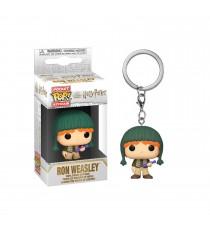 Porte Clé Harry Potter - Ron Holiday Pocket Pop 4cm