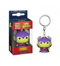 Porte Clé Disney Pixar - Alien As Zurg Pocket Pop 4cm