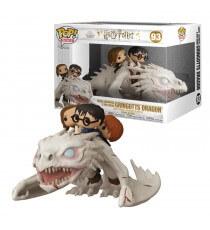 Figurine Harry Potter - Dragon & Harry Ron Hermione Pop Rides 13cm