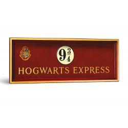 Réplique Harry Potter - Panneau Voie 9 3/4 Poudlard Express 56x20 cm