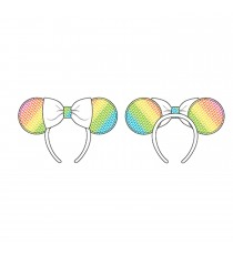 Serre-Tête Disney - Sequin Rainbow Minnie