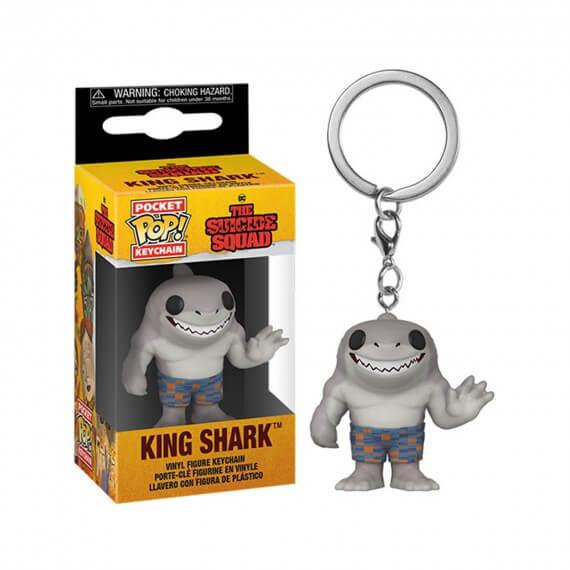 Porte Clé DC Suicide Squad 2021 - King Shark Pocket Pop 4cm