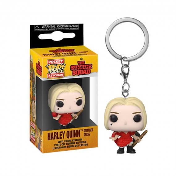 Porte Clé DC Suicide Squad 2021 - Harley Quinn Damaged Dress Pocket Pop 4cm