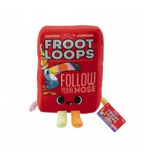 Peluche Kelloggs - Froot Loops Cereal Box 18cm
