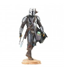 Statue Star Wars Mandalorian - Mando W/ Child Premier Collection 25cm