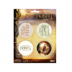 Pack 4 Badges The Hobbit Set B