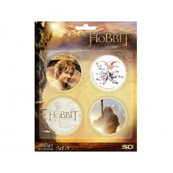 Pack 4 Badges The Hobbit Set A