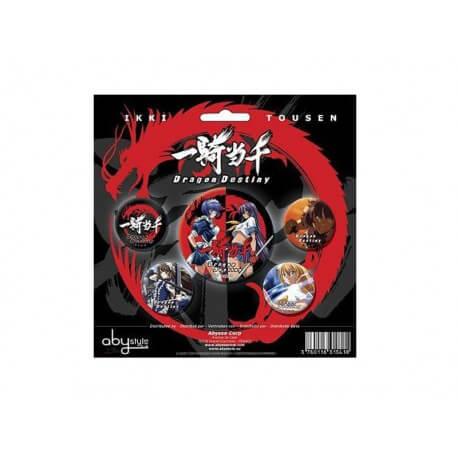 Pack 5 Badges Ikky Tousen Dragon Destiny Action 1